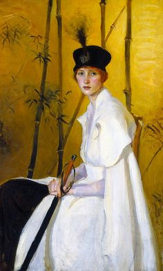 Woman in White - Artist Ruth P. Bobbs | American | 1884-1973 Creation date about 1902-1907 Materials oil on canvas Dimensions 37 5/8 x 29 3/4 in. 55 1/2 x 37 1/2 x 2 1/4 in. (framed)