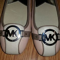 New Michael Kors Shoes: Color Ecru and Ballet New MK Fulton Mocs : color is Ballet/Ecru. Shoes are new and very cute. Be sure to check out my closet, I am listing new items daily. Michael Kors Shoes Flats & Loafers