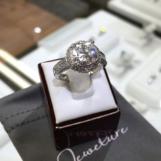 $63 ring that looks like this.. What?? Our jewelry is real silver, with hand set flawless 5A CZ stones. Affordable, but much better than costume. Item code R71370 on Jewelure.com