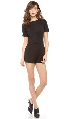 T by Alexander Wang JERSEY BONDED NEOPRENE ROMPER Trendy Outfits, Summer Outfits, Cute Outfits, Estilo Glam, Edgy Girls, Fashion Marketing, Black Romper, My Style, Glam Style