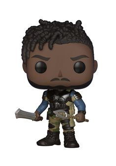 Funko POP! Marvel: Black Panther Movie - Erik Killmonger (Styles May Vary) Collectible Figure: From Black Panther, Erik Killmonger (styles may vary), as a stylized POP vinyl from Funko! Figure stands 3 3/4 inches and comes in a window display box