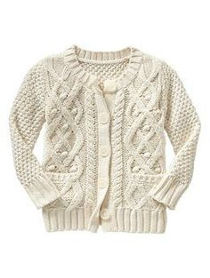Textural cable knit cardigan | Gap