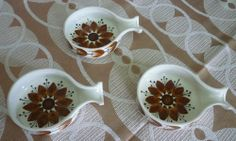 Vintage/Retro Jersey Pottery Tapas/Serving Dishes x 3 Made on Channel Islands