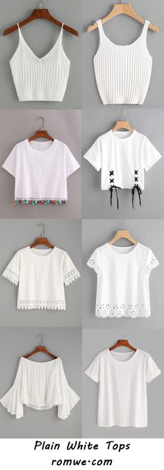 plain white tops 2017 - romwe.com