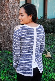 Sketch Striped French Terry Top #asosmarketplace #loverelished