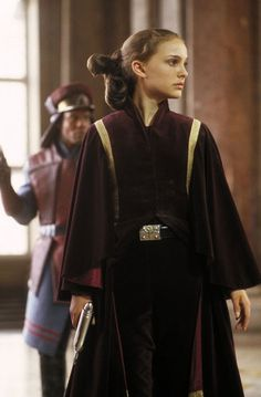 This dress and tunic combo is worn by Padme Amidala, while ...