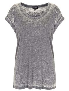Tee-shirt loose gris Topshop