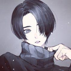 Anime Oc, Dark Anime, Kawaii Anime, Anime Manga, Anime Art Girl, Manga Art, Anime Girl Short Hair, Dibujos Tumblr A Color, Handsome Anime