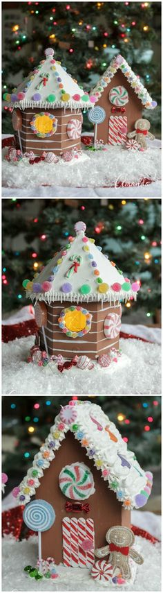 Learn how to make an adorable non-edible birdhouse gingerbread house to decorate your home for Christmas! Use it year after year! #gingerbread @gingerbreadhouse #christmascrafts #christmas