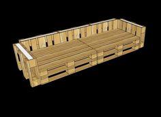 Muebles de palets: Planos 3D para amueblar una oficina con palets