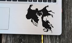 Harry Potter Dementor vinyle autocollant, Decal Dementor, autocollant pour ordinateur portable, stickers vinyle, autocollant macbook, sticker mural, autocollant de voiture
