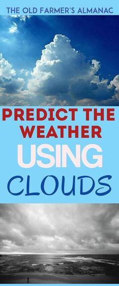 There are several different cloud types and often you can predict the weather by viewing the clouds.