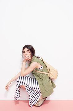 striped maxi + vest