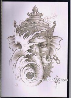 Ozzy Tattoo, Ma Tattoo, Mantra Tattoo, Ganesh Tattoo, Hindu Tattoos, Buddha Tattoos, Japanese Tattoo Art, Japanese Art, Mastectomy Tattoo