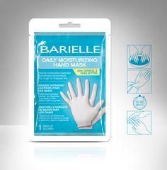 Show your hands the love they need with this 30-60 minute mask. Barielle Daily Moisturizing Hand Mask is an easy-to-use, no-mess way to smooth and nourish your hands so they look and feel great. Wear this pair of gloves for an intensive moisturizing treatment infused with nutrient-rich Oatmeal & Shea Butter to hydrate even the most rough and dry hands for beautiful, soft and rejuvenated skin. Use the Daily Moisturizing Hand Mask to restore dry, rough, or chapped skin and protect hands .