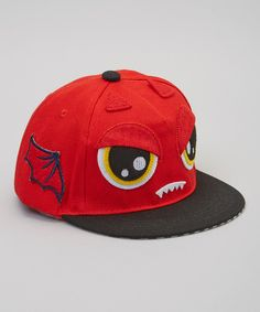 21126b9e3e6 Look at this Gometiing LLC Red Monster Baseball Cap on today!