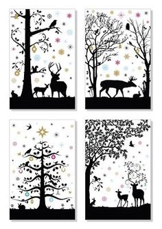Bilderesultat for scherenschnitt winterlandschaft - Fashion and Recipes Noel Christmas, All Things Christmas, Xmas, Kirigami, Decoupage, Stencils, Paper Art, Paper Crafts, Theme Noel