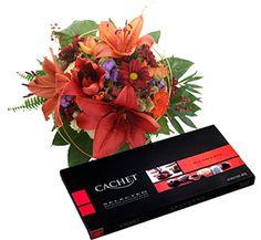 Belga csokoládé ajándék és virágküldés