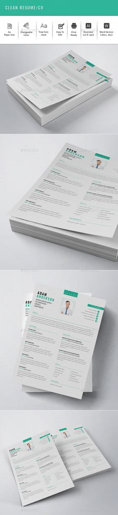 Clean Resume / CV Template. Download here: http://graphicriver.net/item/clean-resumecv/15728066?ref=ksioks