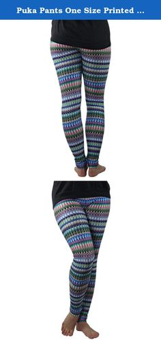 Puka Pants One Size Printed Stretch Leggings for Women - High Quality (Blue Diamond). These trendy and fashionable stretch leggings come in a variety of patterns to accessorize your look or simply wear on their own to yoga class. Made from an incredibly stretchy and elastic material, these leggings fit most body types. wearing these will get you noticed! So whether you are looking for some incredibly bold colors, crazy patterns and prints, or something a little more down to earth, there…