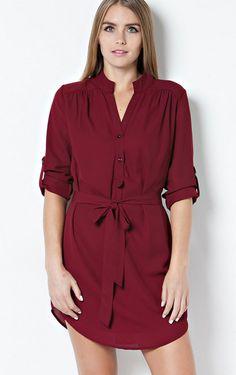 Wine Shirt Dress – Laney Lu's Boutique
