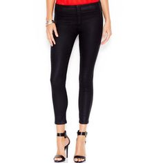 Guess Push-Up Jeggings Coated Black Wash ($56) ❤ liked on Polyvore featuring pants, leggings, coated black, jeggings pants, party pants, black denim leggings, black jeggings and guess leggings