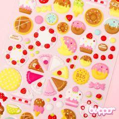 Kawaii Balloon Stickers - Dessert