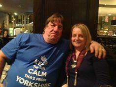 Dave Shovelhand Tinnion - Edinburgh.  http://imfromyorkshire.com/yorkshire-t-shirts/keep-thi-sen-calm-thas-from-yorkshire-blue-t-shirt/