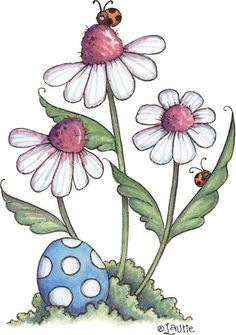 Tole Painting, Fabric Painting, Painting & Drawing, Pintura Country, Doodle Art, Pintura Tole, Easter Flowers, Country Paintings, Flower Doodles