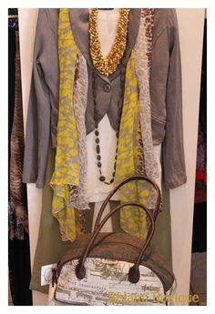Top, Jacket, denim, scarf, necklace and handbag :)