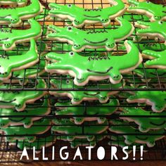 Playing with Food!: Alligator Cookies!