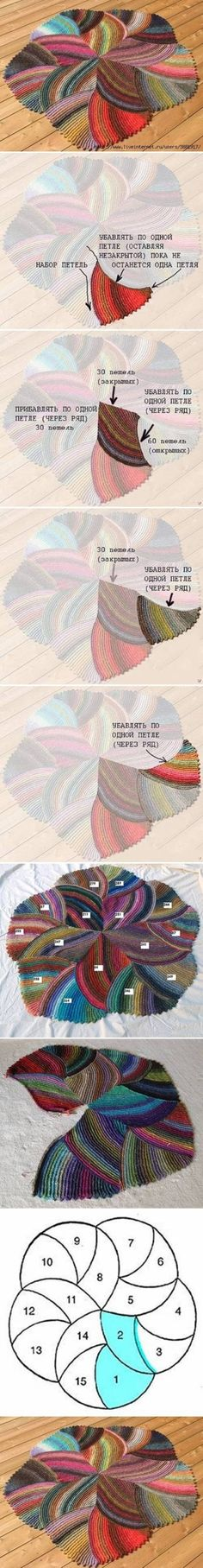 DIY Knit Melange Rug. Additional info at http://www.howtoinstructions.org/how-to-make-melange-rug-step-by-step-diy-tutorial-instructions/ and http://www.liveinternet.ru/users/4342044/post161415191/