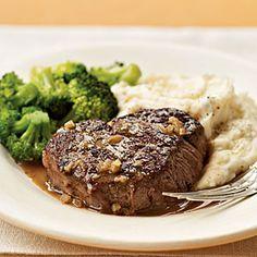 Brandy and Mustard-Glazed Tenderloin Steaks   MyRecipes.com
