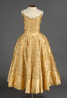 Amazingness | Party dress, Sold by G. Fox and Co., 1950's. Connecticut Historical Society.