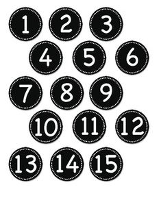 number labels blue and circles on pinterest With circle number labels