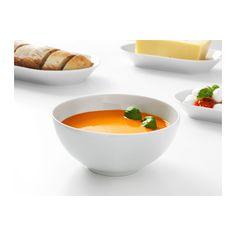 ikea bowl rounded sides white