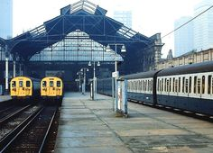 Now long gone,but this was the scene in several units in attendance. Old Train Station, Train Stations, Vintage London, Old London, Junction Road, Disused Stations, London Location, Liverpool Street, London History