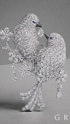 An Extraordinary New Diamond Bird Brooch takes flight from the GRAFF workshop. Graff Diamonds…