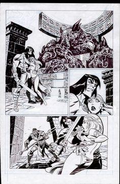 Comic Book Pages, Comic Book Artists, Comic Artist, Comic Books Art, Bruce Timm, Cartoon Shows, Cartoon Art, Comic Layout, Comic Manga