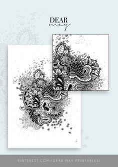 Mandala Wall Art No. 5 ⋆ Mandala Print ⋆ Black and White Print ⋆ Wall Decor ⋆ Boho Chic ⋆ Minimalist Design ⋆ Digital Download ⋆ Printable ⋆ Dear May Printables Mandala Printable, Wall Decor, Wall Art, Minimalist Design, Wall Prints, Boho Decor, Decorating Your Home, Boho Chic, Printables