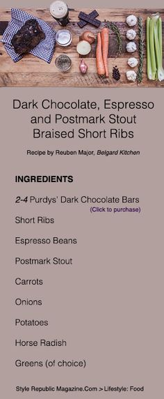 #SRxPURDYS: Watch Chef Reuben Major create his Purdys Dark Chocolate, Espresso and Postmark Stout Braised Short Ribs | Style Republic Magazine