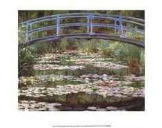 "Product ID#: 25546  Title: Japanese Bridge  Artist: Claude Monet  Type: Fine-Art Print  Paper Size: 14"" x 11"""