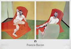 Double portrait of Lucian Freud and Frank Auerbach, Francis Bacon