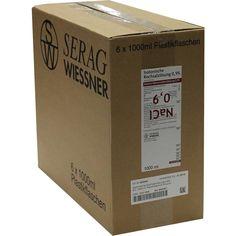 KOCHSALZLÖSUNG 0,9 prozent Plastik:   Packungsinhalt: 6X1000 ml Infusionslösung PZN: 03291699 Hersteller: SERAG-WIESSNER GmbH & Co.KG…