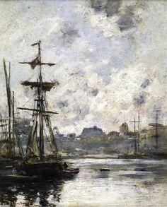 Eugène Boudin - Port de Fécamp (1892)