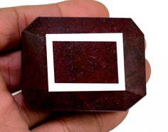 891ct Big Natural Rectangular Museum Size Blood Red Ruby Loose Gemstone on ebay