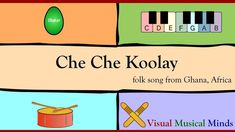 Che Che Koolay, also known as 'Kye Kye Kule', is a wonderful repeat-after-me song that comes from Ghana, Africa. The lyrics to Che Che Koolay are: Che Che Ko. Preschool Music, Teaching Music, Teaching Resources, Music Stuff, Music Songs, Music Videos, Music Lesson Plans, Music Lessons, Repeat After Me Songs