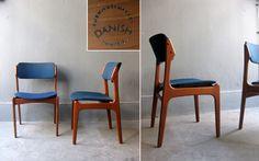 Niels O. Moller teak dinning chairs.