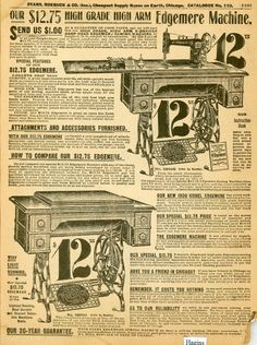 1900 Sears catalog ads. Hagins collection.