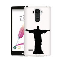 LG G Stylo 2 Silhouette Christ the Redeemer Brazil on White Skim Case